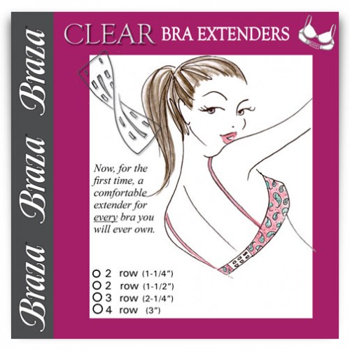 Braza Clear Bra Extenders Style 5000