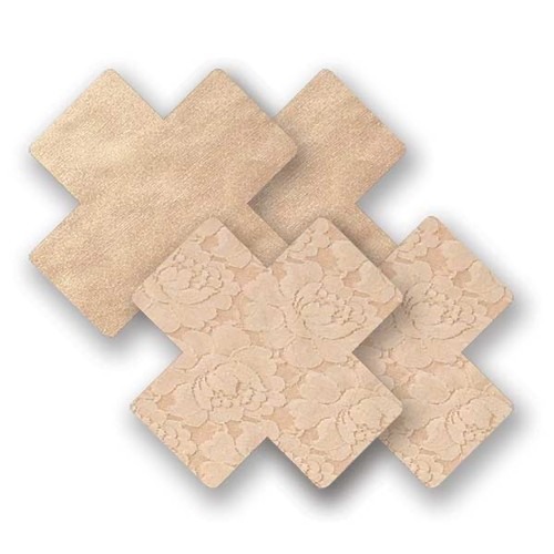 Nippies Basic Cross Nipple Covers Creme Front