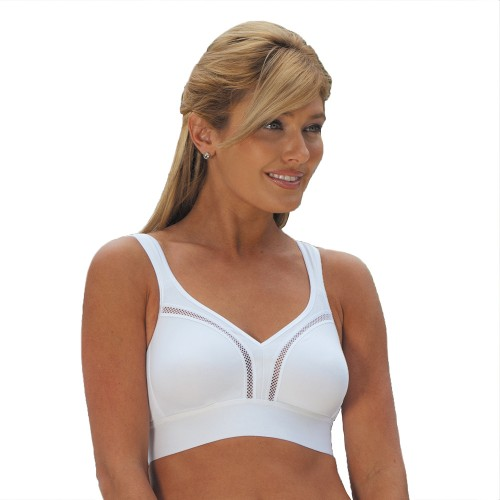 Carnival CoolMax® Soft Cup Sport Bra White Front