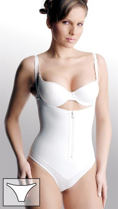 Cocoon Latex Braless Zip Front Body Briefer Style P2106