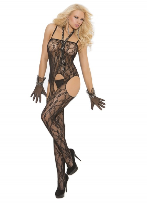 Elegant Moments Lace Suspender Bodystocking