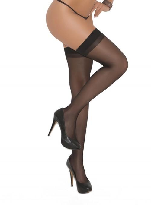 Elegant Moments Sheer Back Seam Stockings