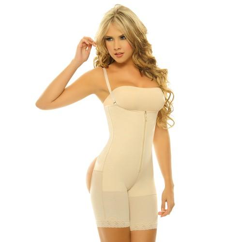Body Line Powernet Braless Butt Enhancer Long Leg Body Briefer Nude Front