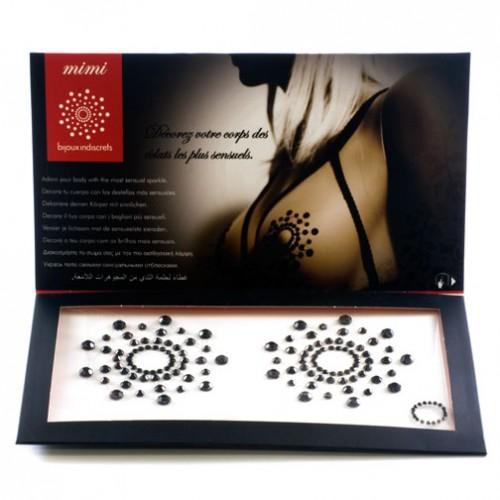 Bijoux Indiscrets Mimi Rhinestone Pasties Black Diamond Nipple Covers