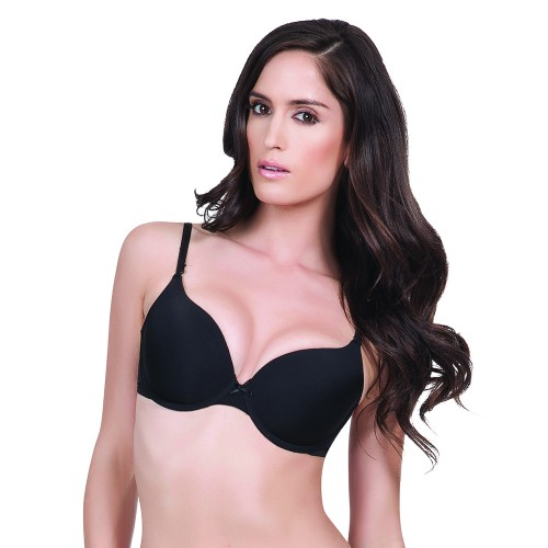 Affinitas Intimates Allison T-shirt Bra Black Front