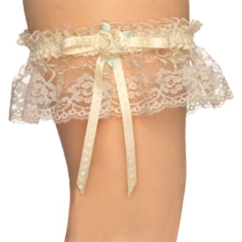 Aire White Lily Lace Bridal Garter Style 1964