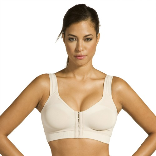 Annette Seamless Post Surgery High Back Bra Beige Front