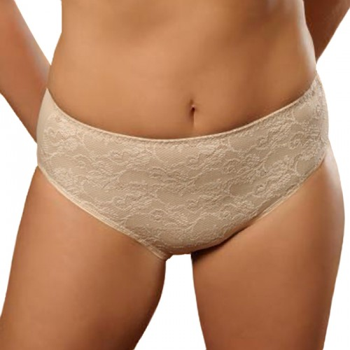 Aviana Stretch Lace Pantie Nude Front