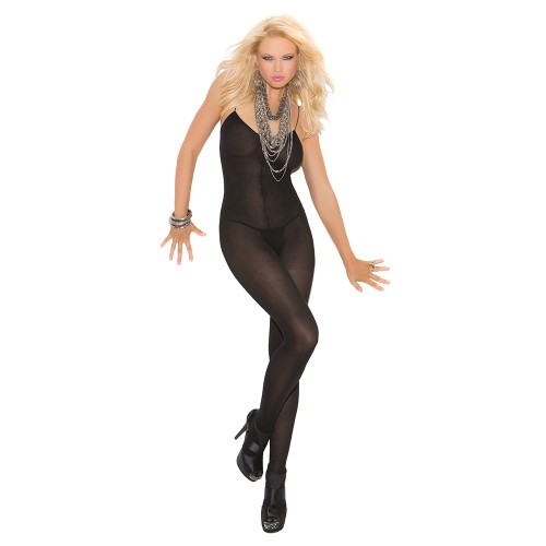 Elegant Moments Opaque Spaghetti Strap Bodystocking Style 1601