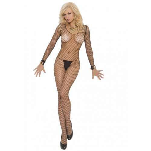 Elegant Moments Fence Net Long Sleeve Bodystocking