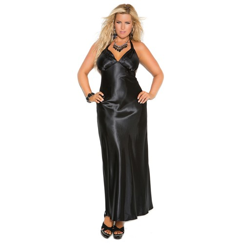 Elegant Moments Satin Halter Neck Charmeuse Nightgown Style 1919
