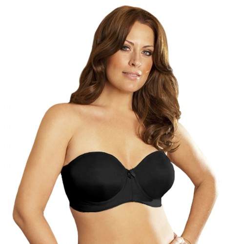 Elila Strapless Molded Bra Black Front