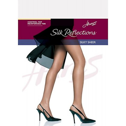 Hanes Silk Reflections Silky Sheer Control Top RT Pantyhose Style 00718