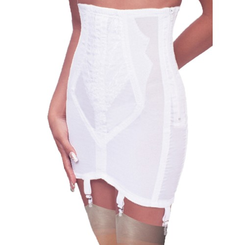 Rago Shapewear Open Bottom Girdle White
