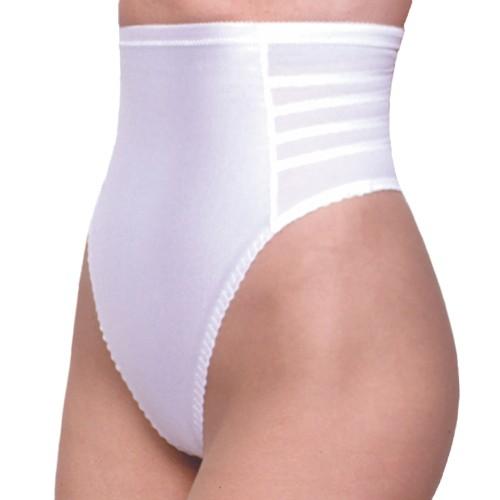Rago High Waist Thong Back Pantie Girdle White